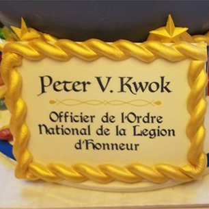 29/11/2019 - Peter Kwok was honoured with the insignia of Officer of the Legion of Honour